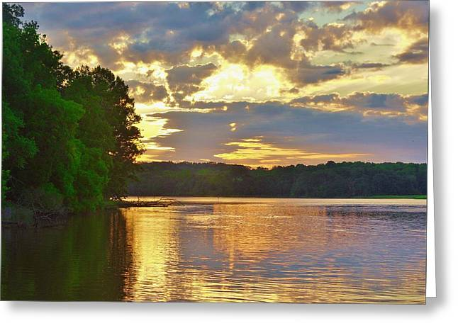 Sunrise At The Landing Greeting Card