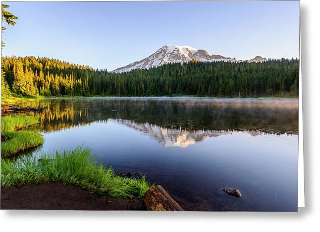 Mount Rainier Viewed From Reflection Lake Greeting Card