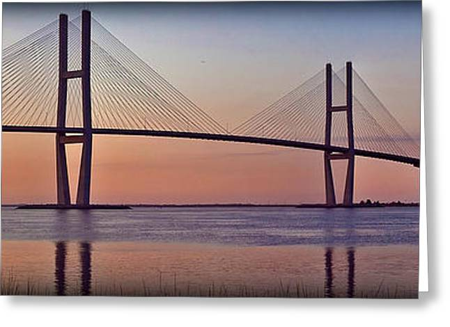 Sunrise At The Sidney Lanier Bridge Greeting Card