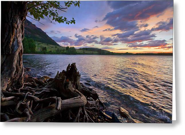 Sunrise At Waterton Lakes Greeting Card