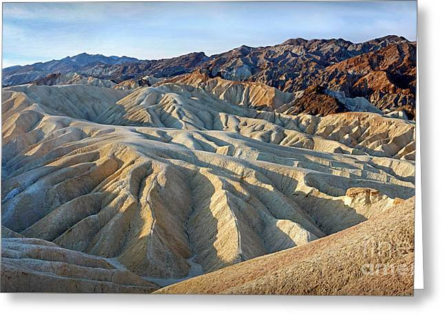 Sunrise At Zabriskie Point Greeting Card