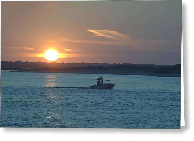 Sunrise Bassing Greeting Card by  Newwwman
