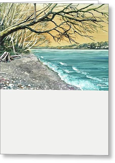 Sunrise Beach Greeting Card
