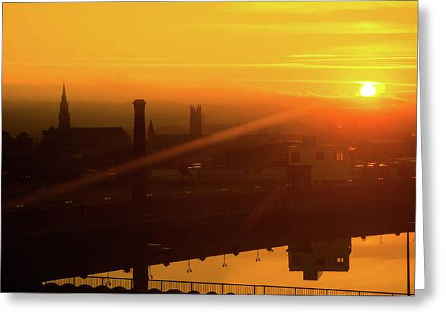 Sunset Belfast Greeting Card
