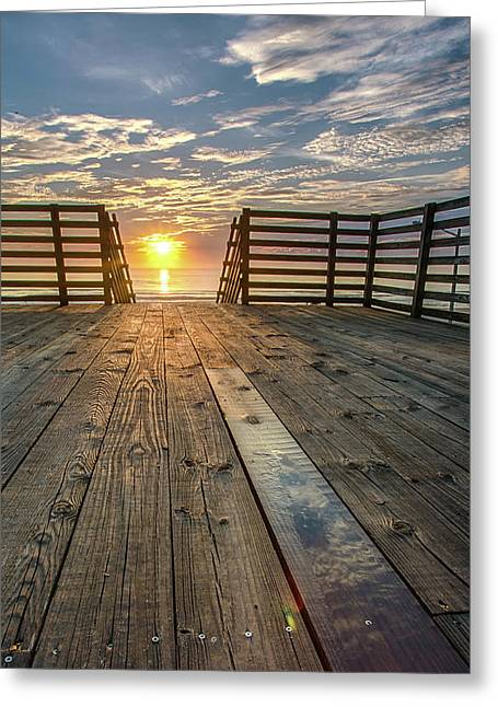 Sunrise Boardwalk Greeting Card
