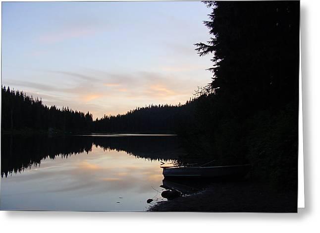 Sunrise Boat  Greeting Card