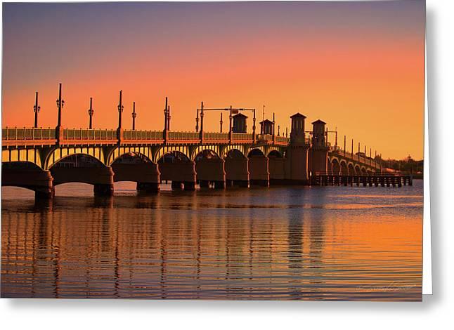 Sunrise Bridge Of Lions Greeting Card