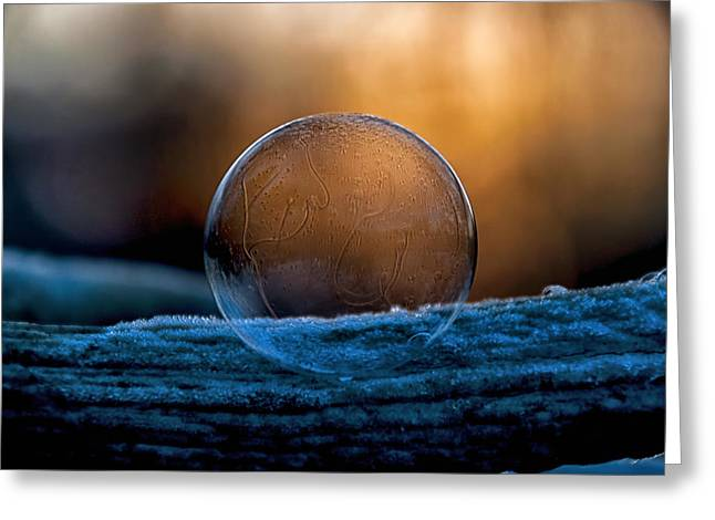 Sunrise Capture In Bubble Greeting Card
