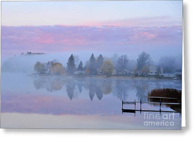 Sunrise Comes To Stoneledge Lake Greeting Card