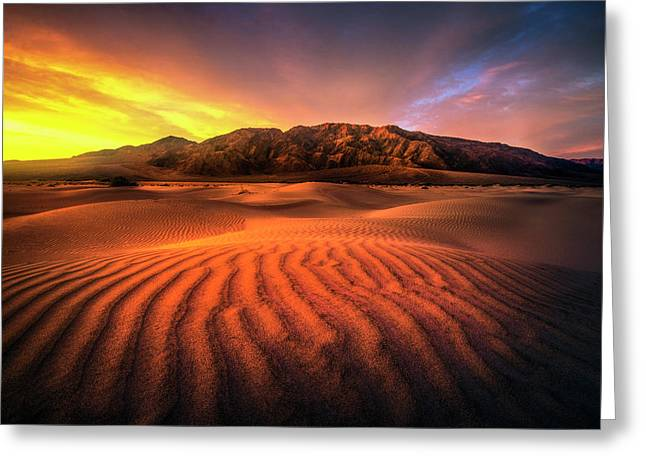 Sunrise-death Valley Greeting Card