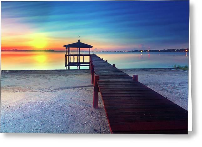 Sunrise Dreaming Greeting Card by Debra and Dave Vanderlaan