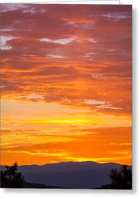 Sunrise Greeting Card by Elena E Giorgi