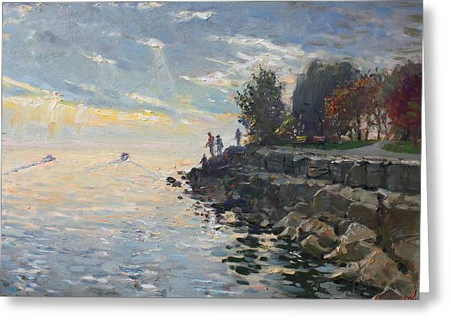 Sunrise Fishing Greeting Card