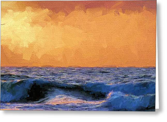 Sunrise Flight In Destin Greeting Card by JC Findley