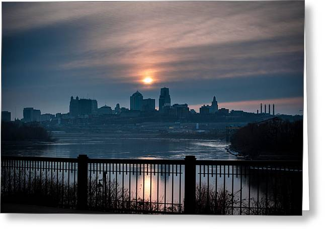 Sunrise From Kaw Point Greeting Card