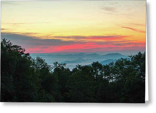 Sunrise From Maggie Valley August 16 2015 Greeting Card