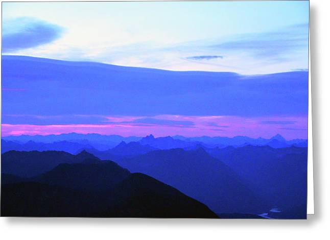 Sunrise From Pilchuck Summit Greeting Card