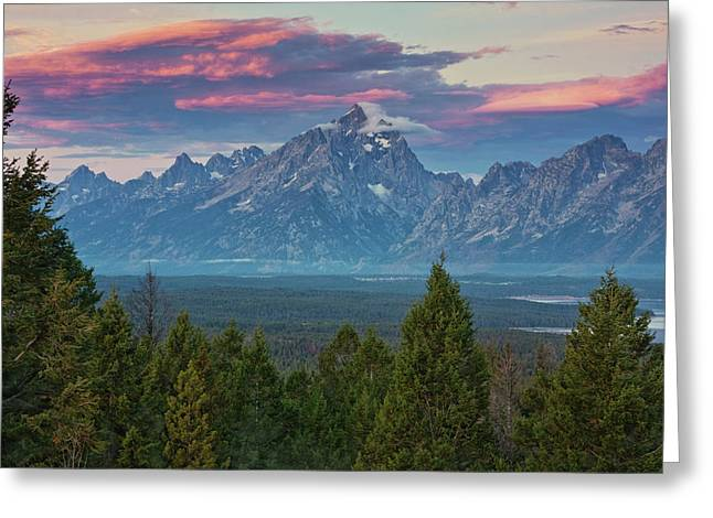 Sunrise From Signal Mountain Greeting Card by Mark Kiver