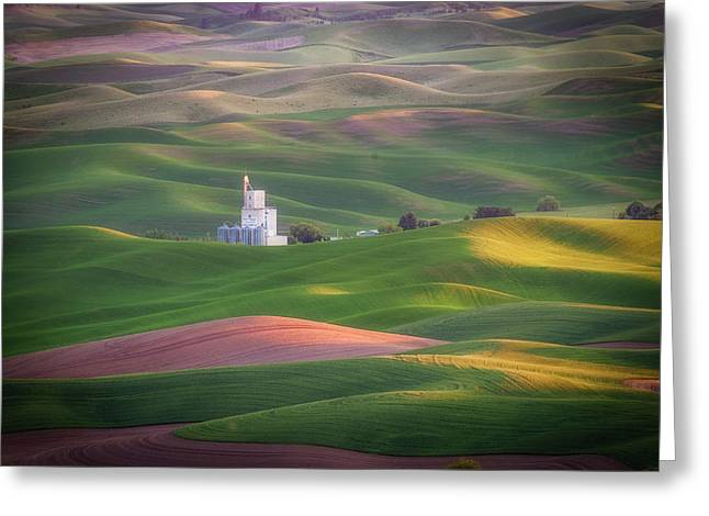 Sunrise From Steptoe Butte. Greeting Card