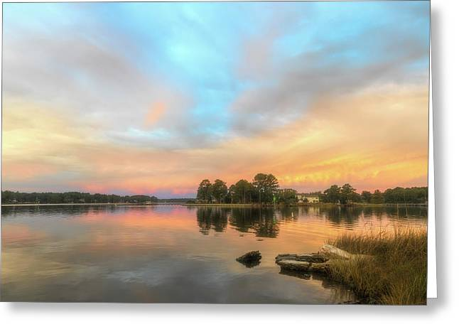 Greeting Card featuring the photograph Sunrise, From The West by Cindy Lark Hartman