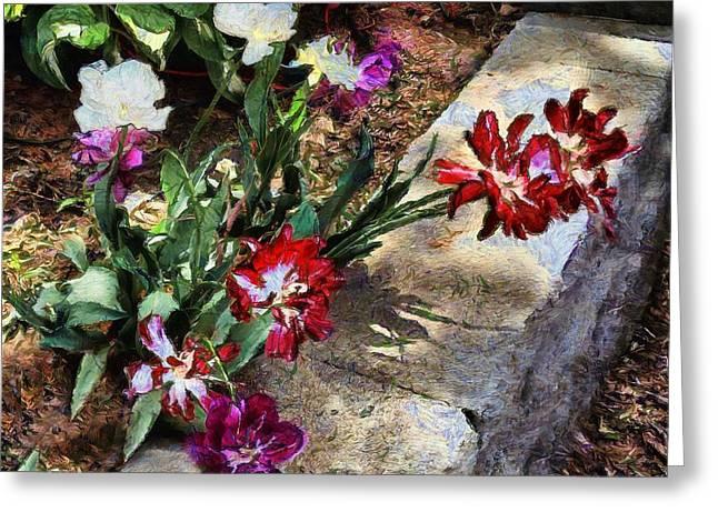 Sunrise Garden Greeting Card by RC deWinter