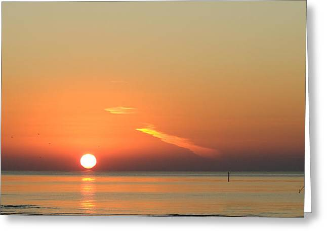 Sunrise Gulfport Mississippi Greeting Card