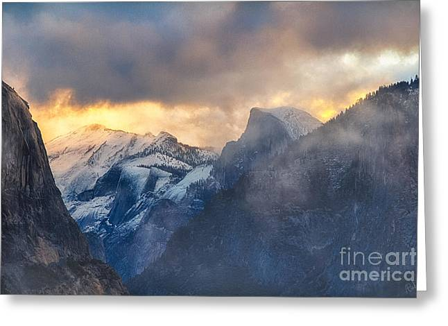 Sunrise Half Dome Greeting Card