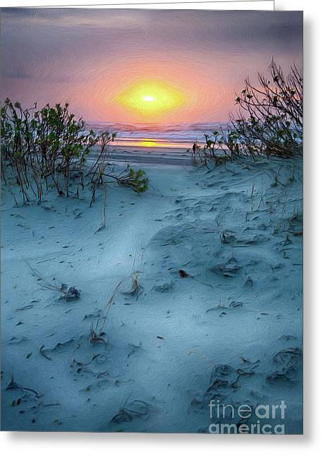 Sunrise Hike On The Outer Banks Ap Greeting Card by Dan Carmichael