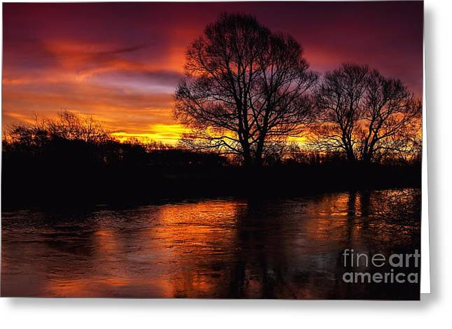 Greeting Card featuring the photograph Sunrise II by Franziskus Pfleghart