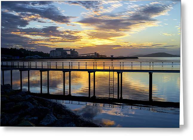 Sunrise In Albany Greeting Card by Niel Morley