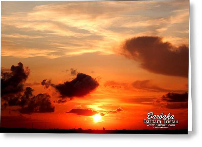 Sunrise In Ammannsville Texas Greeting Card