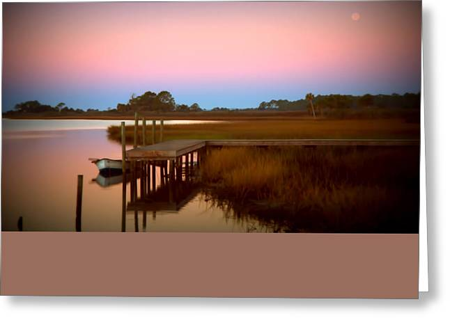 Sunrise In Apalachicola Greeting Card by Jennifer Stackpole