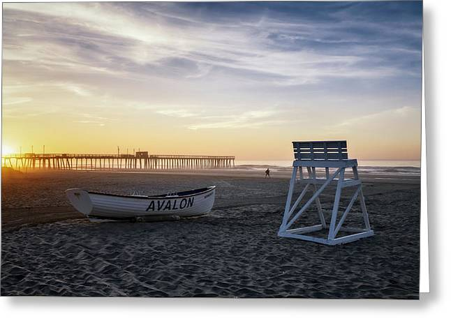 Greeting Card featuring the photograph Sunrise In Avalon by Eduard Moldoveanu