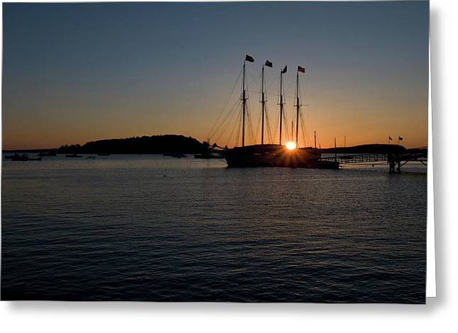 Sunrise In Bar Harbor Greeting Card