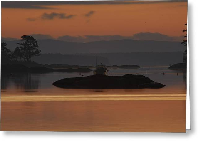 Greeting Card featuring the photograph Sunrise In Blue Hill I by Greg DeBeck