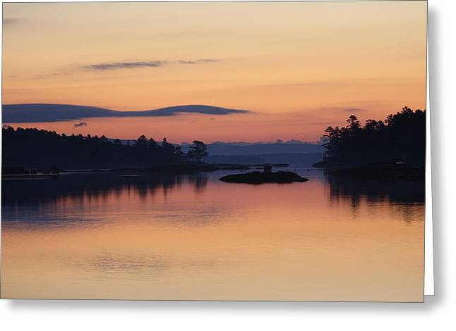 Greeting Card featuring the photograph Sunrise In Blue Hill IIi by Greg DeBeck
