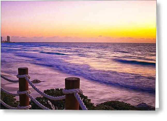 Sunrise In Cancun Greeting Card