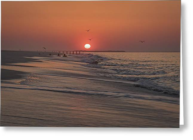 Sunrise In Cape May Greeting Card