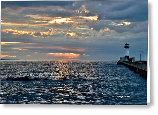 Sunrise In Duluth Greeting Card