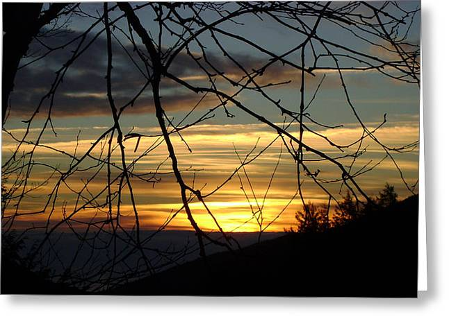 Sunrise In Fracture Greeting Card
