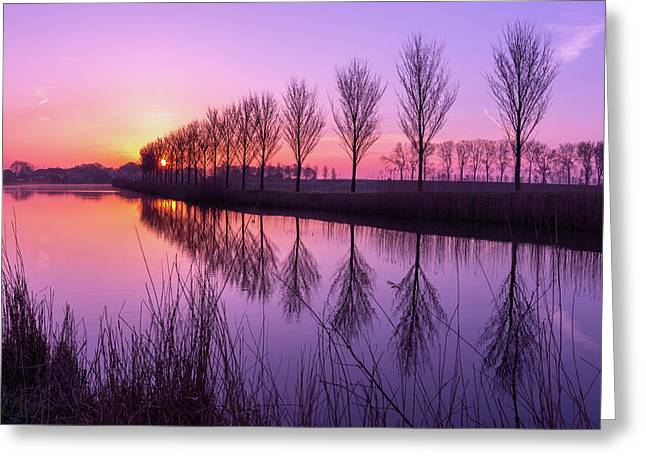 Sunrise In Holland Greeting Card