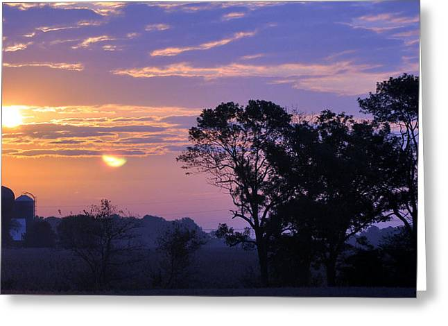 Sunrise In Indiana Greeting Card
