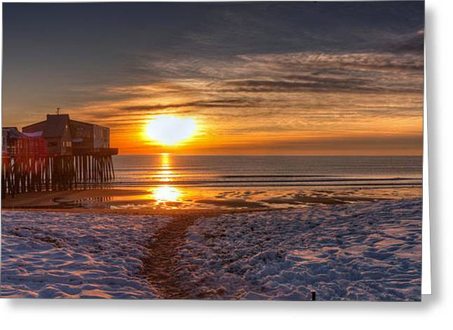 Greeting Card featuring the photograph Sunrise In Maine by David Bishop