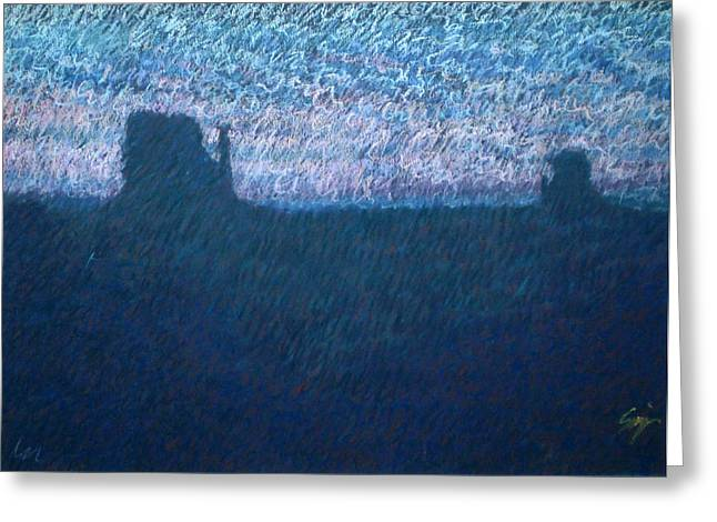 Sunrise In Monument Valley Greeting Card by Suzie Majikol Maier