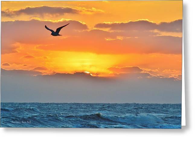 Sunrise In Nags Head Greeting Card