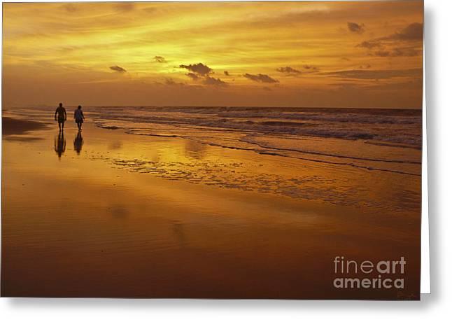 Sunrise In Orange Greeting Card