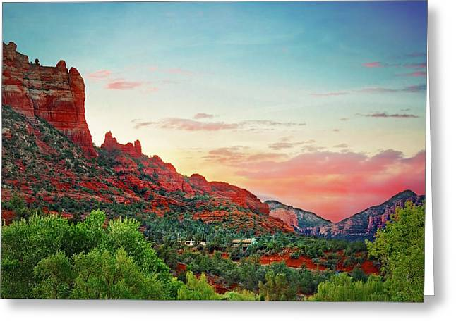 Sunrise In Sedona  Greeting Card by Jennifer Rondinelli Reilly - Fine Art Photography