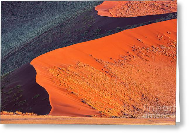 Greeting Card featuring the photograph Sunrise In Sossusvlei by Brenda Tharp