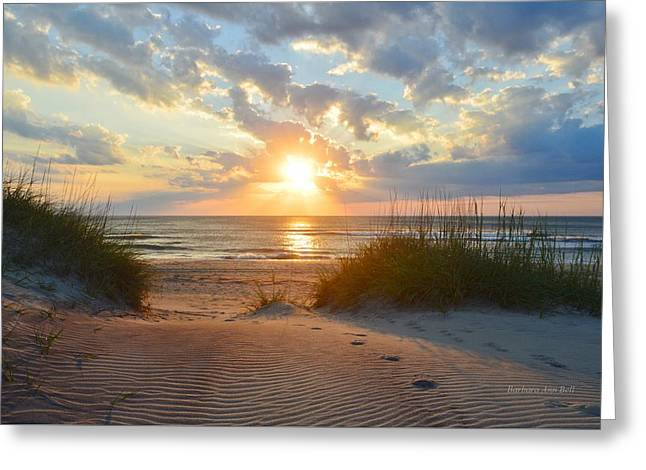Sunrise In South Nags Head Greeting Card