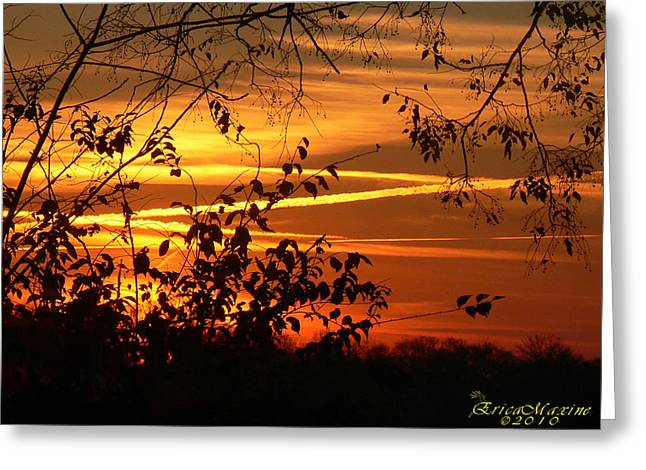Greeting Card featuring the photograph Sunrise In Tennessee by EricaMaxine  Price